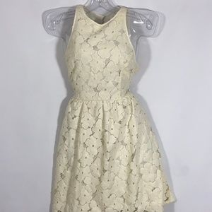 🌞🌞LC Lauren Conrad cream summer cocktail dress